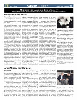 Flatbush Jewish Journal - July 21, 2016, ElieWiesel