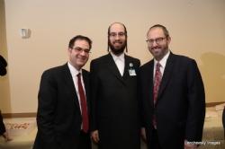 Councilmember Kalman Yeger, Eliazer Igel - CEO Ezra Medical Center, NYS Senator Simcha Felder, Simcha Felder