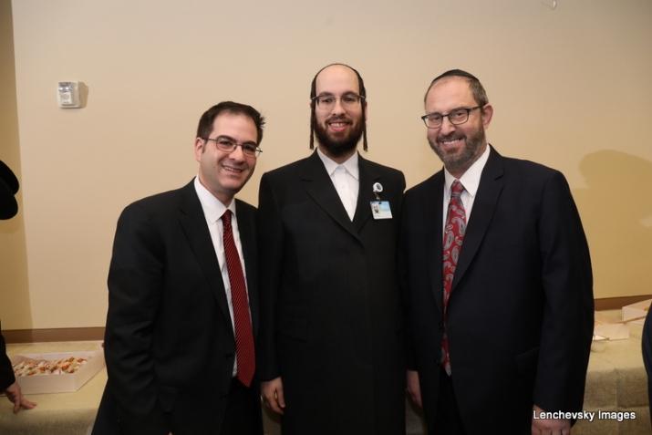 Councilmember Kalman Yeger, Eliazer Igel - CEO Ezra Medical Center, NYS Senator Simcha Felder, Simcha Felder,Kalman Yeger, , ezra friedlander