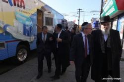 NYC Councilmember Brad Lander, Shlomo Igel, Pinny Hikind, Rabbi Berish Freilich, BradLander