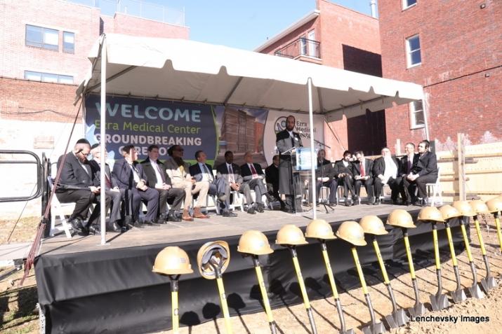 Eliazer Igel - CEO Ezra Medical Center speaking at the groundbreaking ceremony, , , ezra friedlander