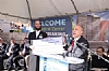 NYS Comptroller Tom DiNapoli presenting a check to Eliazer Igel - CEO Ezra Medical Center
