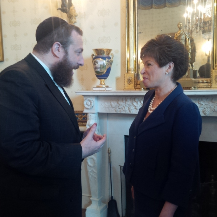 Ezra Friedlander CEO The Friedlander Group in discussion with Valerie Jarrett White House Senior Advisor, , , ezra friedlander