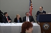 (L-R) Sidney Greenberger, Senator Gillibrand (D-NY), Peter Rebenwurrzel, Dr. Moskovits