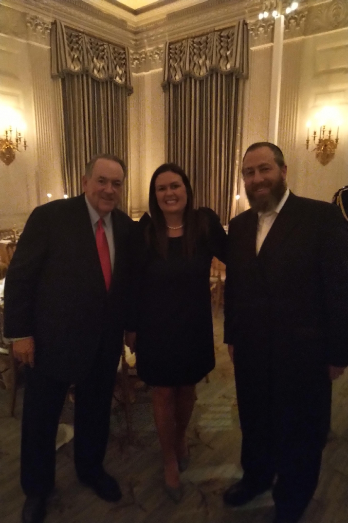 Former Governor Mike Huckabee, White House Press Secretary Sarah Sanders, Ezra Friedlander, Sarah Sanders,Mike Huckabee, , ezra friedlander
