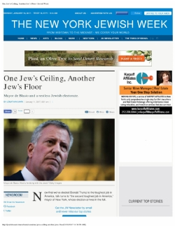 http://jewishweek.timesofisrael.com/one-jews-ceiling-another-jews-floor/, Bill de Blasio