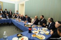 Delegation in discussion with U.S. Senator Ben Cardin and U.S. Senator Ted Cruz, Ted Cruz