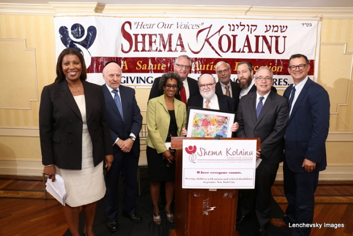L-R: NYC Public Advocate Letitia James, Dr. Herminia Palacio, Deputy Mayor of Health and Human Services, Peter Rebenwurzel, Dr. Joshua Weinstein, Milton Weinstock, Ezra Friedlander, NYC Comptroller Scott Stringer, NYC Councilmember Andrew Cohen, EzraFriedlander,Andrew Cohen,Letitia James,Scott Stringer,Herminia Palacio,Joshua Weinstein,Menachem Lubinsky,Peter Rebenwurzel, Andrew Cohen, ezra friedlander