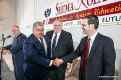 Menachem Lubinsky, Brooklyn DA Eric Gonzalez, Peter Rebenwurzel, NYC Councilmember Kalman Yeger, Eric Gonzalez