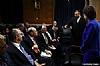 U.S. Senator Susan Collins addressing the delegation