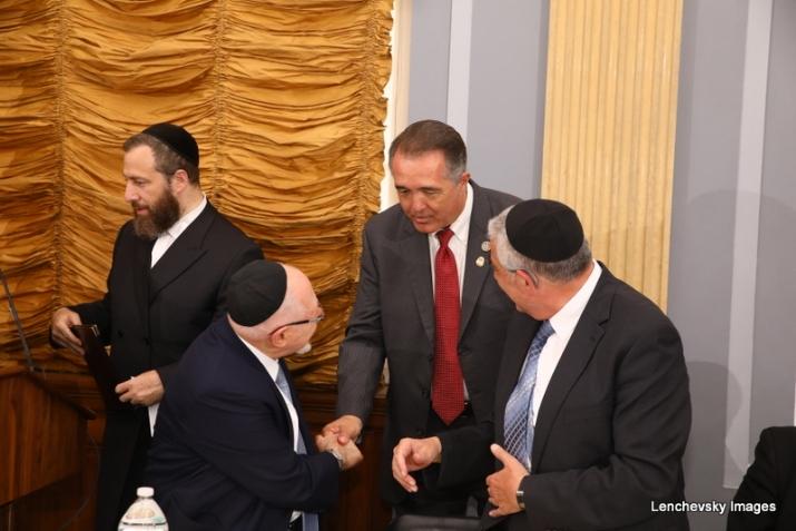 Ezra Friedlander, Woli Stern shaking hands with US Representative Trent Franks, Dr. Eli Schussheim,, , RandPaul, ezra friedlander