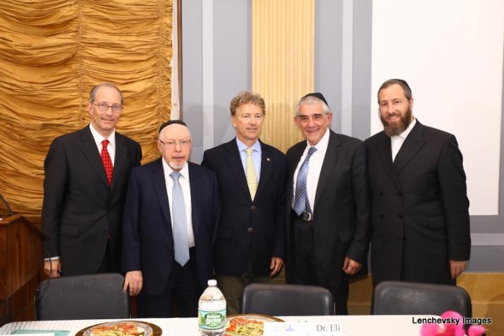 Michael Kierszenbaum, Woli Stern, US Senator Rand Paul, Dr. Eli Schussheim, Ezra Friedlander, , RandPaul, ezra friedlander