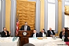 Michael Kierszenbaum, Rabbi Abba Cohen speaking, Woli Stern, Dr. Eli Schussheim, Richard Hellman, US Representative Louie Gohmert