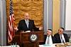 US Representative Louie Gohmert speaking, Woli Stern, Dr. Eli Schussheim