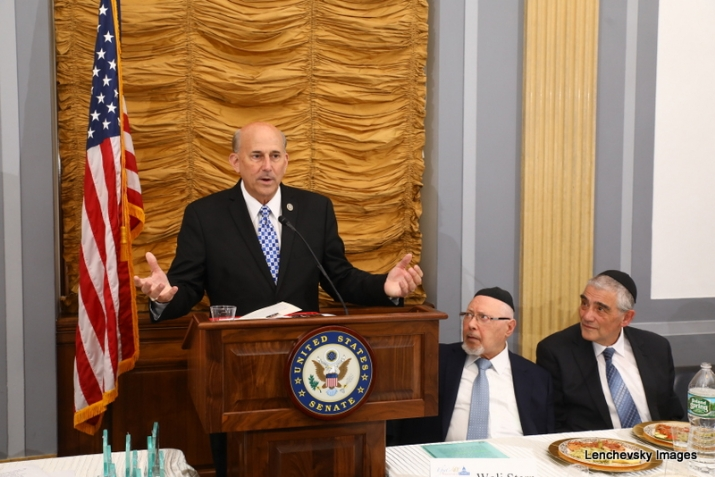 US Representative Louie Gohmert speaking, Woli Stern, Dr. Eli Schussheim, , RandPaul, ezra friedlander