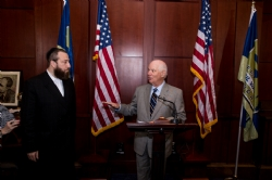 Ezra Friedlander, Senator Ben Cardin at the Raoul Wallenberg Congressional Gold Medal Celebration, Ben Cardin