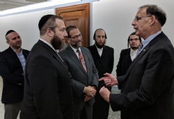 Mark Lazar, Ezra Friedlander, Leon Goldenberg, Chesky Blau, Moshe Klein, U.S. Senator John Boozman, EzraFriedlander