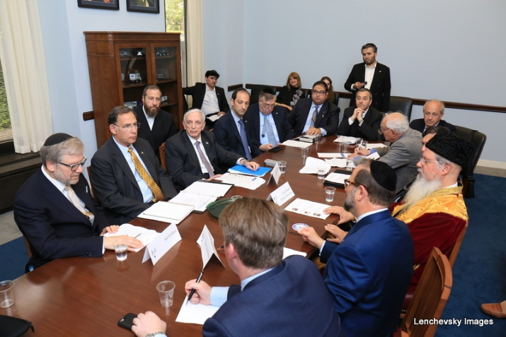 Mission participants in discussion with US Senator John Boozman, SolGoldner,EzraFriedlander,ItzhakYehoshua,JohnBoozman,LeonGoldenberg, , ezra friedlander