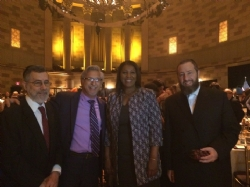 Rabbi Menachem Genack, Mark Meyer Appel, NYC Public Advocate Tish James, Ezra Friedlander, EzraFriedlander