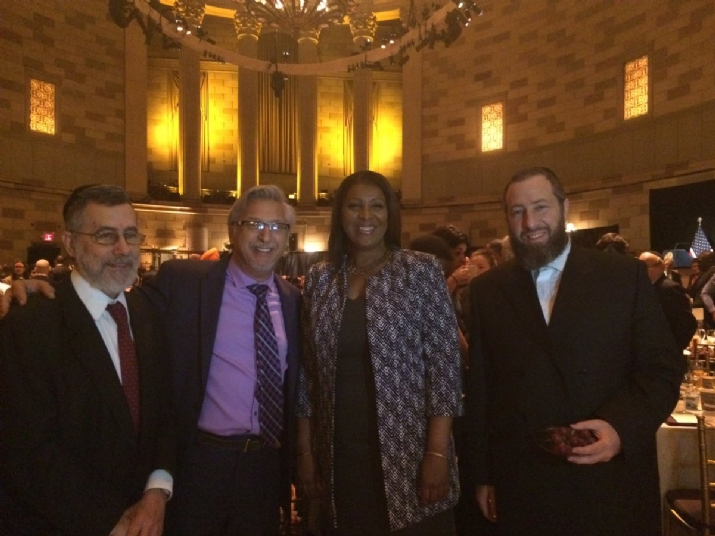 Rabbi Menachem Genack, Mark Meyer Appel, NYC Public Advocate Tish James, Ezra Friedlander, EzraFriedlander,Letitia James, EzraFriedlander, ezra friedlander