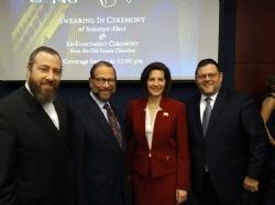 Ezra Friedlander, Leon Goldenberg, U.S. Senator Catherine Cortez Masto, Chaskel Bennett, EzraFriedlander