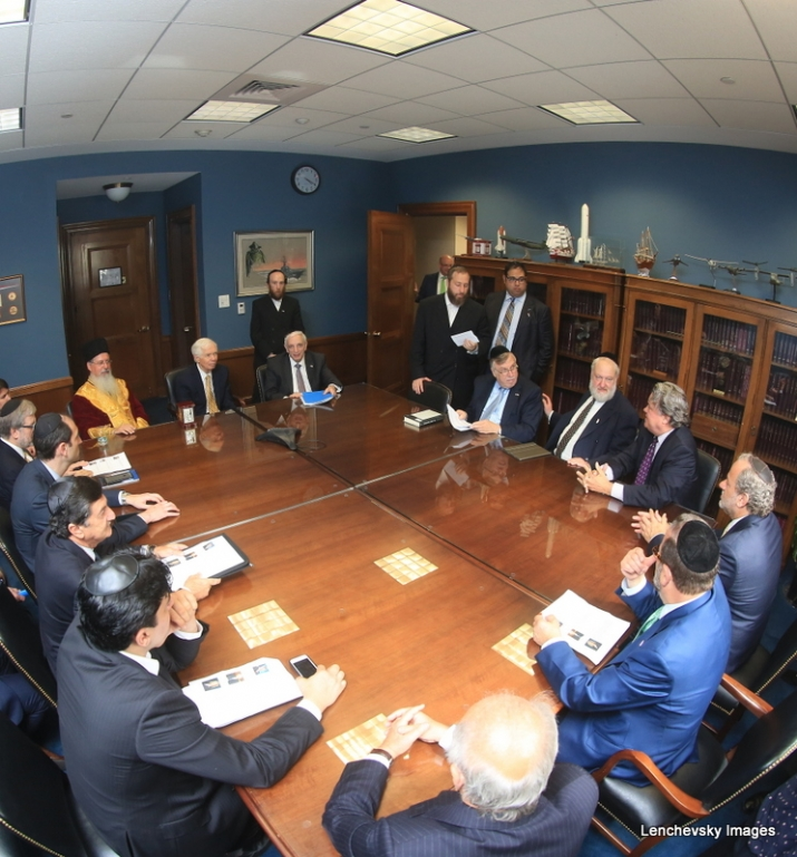 Mission participants in discussion with US Senator Thad Cochran, EzraFriedlander,JosephB.Stamm,ThadCochran, , ezra friedlander