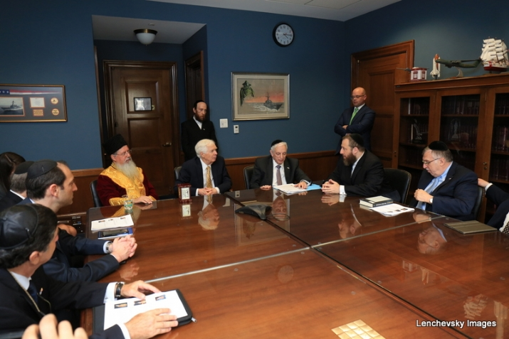 Mission participants in discussion with US Senator Thad Cochran, EzraFriedlander,ThadCochran, , ezra friedlander