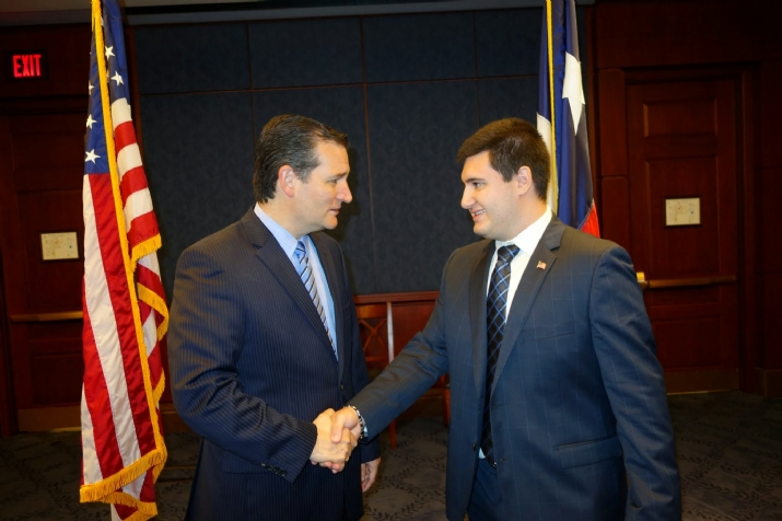 Jonathan Shabshaikhes with US Senator Ted Cruz, , , ezra friedlander