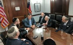 Rubin Margules, Ezra Friedlander, U.S. Senator Ted Cruz, Stanley Treitel, Joseph B. Stamm, Sol Goldner, EzraFriedlander