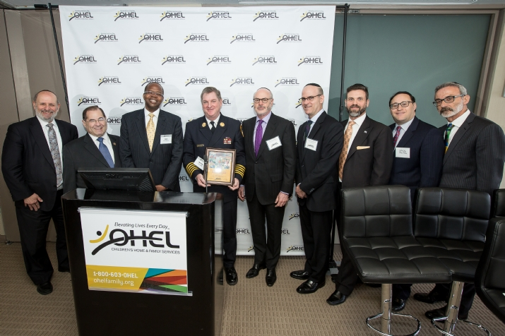 Moshe Zakheim – OHEL Co-Chairman of the Board, Congressman Jerrold Nadler, DA Ken Thompson, FDNY, Elly Kleinman – OHEL Co-Chairman of the Board, Ben Englander, Danial Jacobson, Jack Jaffa, David Mandel, , , ezra friedlander
