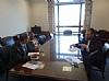 Nicole Dube at a meeting with US Senator Bob Corker