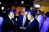 Shmuel Kahn, Abe Eisner, U.S. Senator Chuck Schumer backstage at HASC Concert