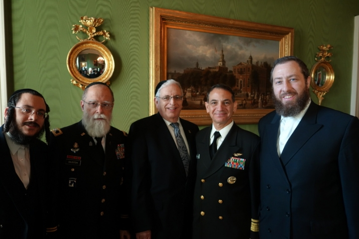 Moshe Visel; Chaplain Jacob Goldstein, Joseph B. Stamm, Rear Admiral Herman Shelanski, Ezra Friedlander, , , ezra friedlander