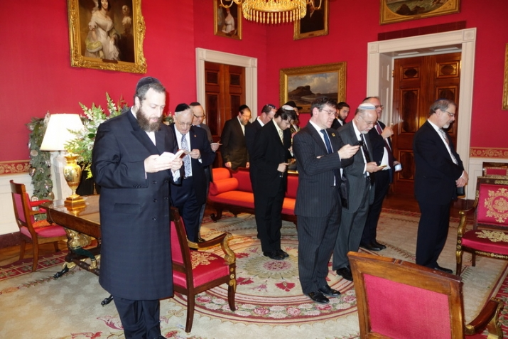 Davening Maariv in the Red Room, , , ezra friedlander