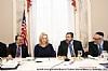 Shlomo Werdiger, US Senator Kirsten Gillibrand, Rabbi Abba Cohen, Rabbi Chaim Dovid Zwiebel