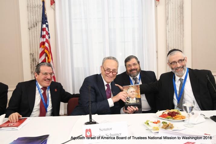 Sol Werdiger, US Senator Charles Schumer, Rabbi Abba Cohen, Rabbi Chaim David Zwiebel, , , ezra friedlander