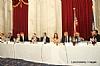 L-R: Sergio Gor, Congressional Staffer, Andrew Friedman, U.S. Representative Joe Kennedy (Speaking), Joseph B. Stamm, Rabbi Elie Abadie, Ivette Dabah, H.E. Yasser Reda - Ambassador of Egypt, Isaac Dabah, Ezra Friedlander