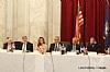 L-R: Joseph B. Stamm, Rabbi Elie Abadie (delivering invocation), Ivette Dabah, H.E. Yasser Reda - Ambassador of Egypt, Isaac Dabah, Ezra Friedlander