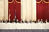 L-R: H.E. Yasser Reda - Ambassador of Egypt, Isaac Dabah, U.S. Senator Ben Cardin, Ezra Friedlander, Sol Goldner, Jack Avital, Leon Goldenberg, Stanley Treitel, Dr. David Moskovits, Aubrey Sharfman, Rabbi Sheftel Neuberger, Gil Kapen