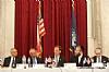 H.E. Yasser Reda - Ambassador of Egypt, Isaac Dabah, U.S. Representative Chris Stewart, Ezra Friedlander, Sol Goldner