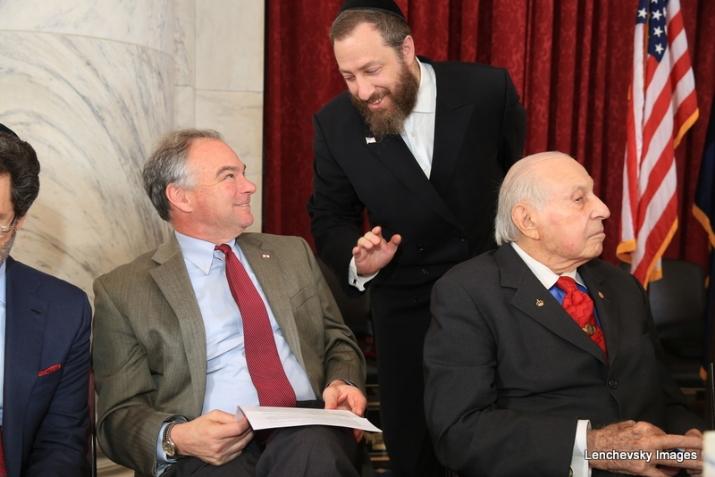 U.S. Senator Tim Kaine, Ezra Friedlander, J. Morton Davis, , , ezra friedlander