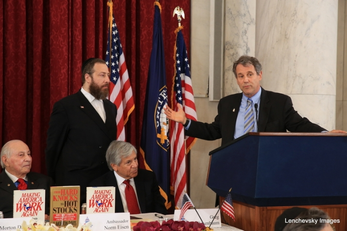 Senator Sherrod Brown speaking, , , ezra friedlander