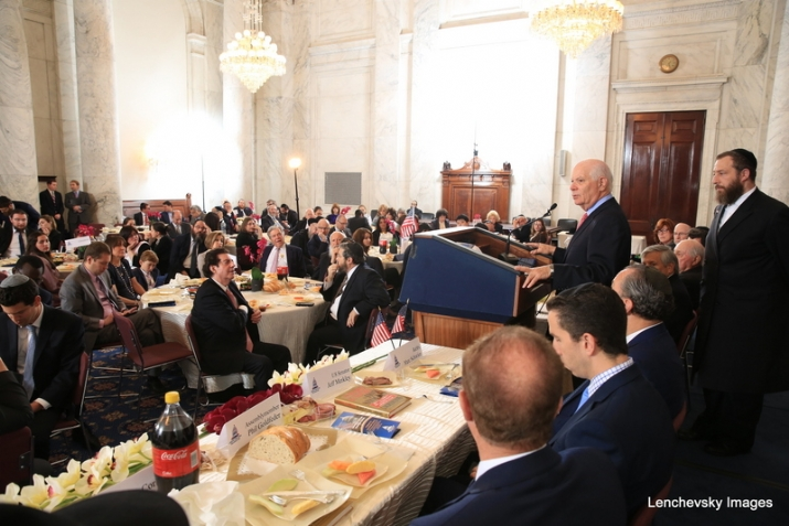 President pro tempore of the U.S. Senate Orrin Hatch addressing the crowd, , , ezra friedlander