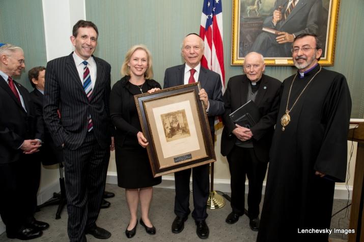Matt Nosanchuk - White House, U.S. Senator Kirsten Gillibrand with Rabbi Arthur Schneier, KirstenGillibrand,ArthurSchneier,S-120HughScottRoom,MattNosanchuk, KirstenGillibrand, ezra friedlander