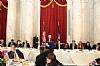 Stanley Treitel, US Senator Brian Schatz (D-HI), Rabbi Hillel Zaltzman, Rabbi Yechiel Eckstein, Ezra Friedlander, Joseph B. Stamm, Greg Rosenbaum (MC Speaking), Aaron Cohen, Felicia Cohen, Eli Verschleiser, Sr. Shani Vershleiser, Esther Kenigsberg, US Senator Steve Daines (R-MT)