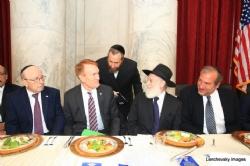 Stanley Treitel, US Senator James Lankford (R-OK), Ezra Friedlander, Rabbi Hillel Zaltzman, Rabbi Yechiel Eckstein, EzraFriedlander