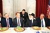 Stanley Treitel, US Senator James Lankford (R-OK), Ezra Friedlander, Rabbi Hillel Zaltzman, Rabbi Yechiel Eckstein