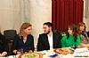 US Representative Debbie Wasserman Shultz, Mendy Kiwak, Breinde Kiwak, Shaindy Lax
