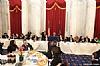Rabbi Levi Shemtov, Abe Eisner, Stanley Treitel, US Representative Joseph P. Kennedy III (D-MA), Rabbi Hillel Zaltzman, Chesky Blau, US Senator Ben Cardin (D-MD), Rabbi Yechiel Eckstein, Greg Rosenbaum, Ezra Friedlander, Joseph B. Stamm, US Representative Debbie Wasserman Shultz speaking, Aaron Cohen, Felicia Cohen, Eli Verschleiser, Sr. Shani Verschleiser, Esther Kenigsberg, US Senator Cory Booker (D-NJ), Mendy Kiwak, Breinde Kiwak