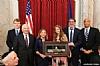 US Representative Joseph P. Kennedy III (D-MA), US Senator Ben Cardin (D-MD), US Representative Debbie Wasserman Shultz, Dr. Shani Verschleiser, Eli Verschleiser, US Senator Cory Booker (D-NJ)